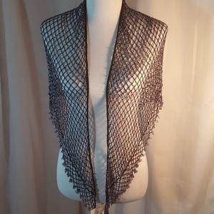 Kirk's Folly Accessories - Kirks Folly completely beaded black shawl